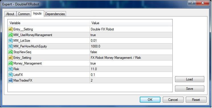 Double FX Robot External Parameters